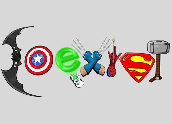 Coexist DC Marvel t-shirt