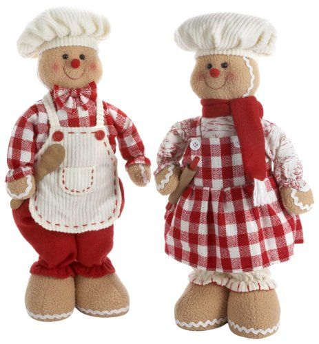 Gingerbread Boy and Girl Set of 2