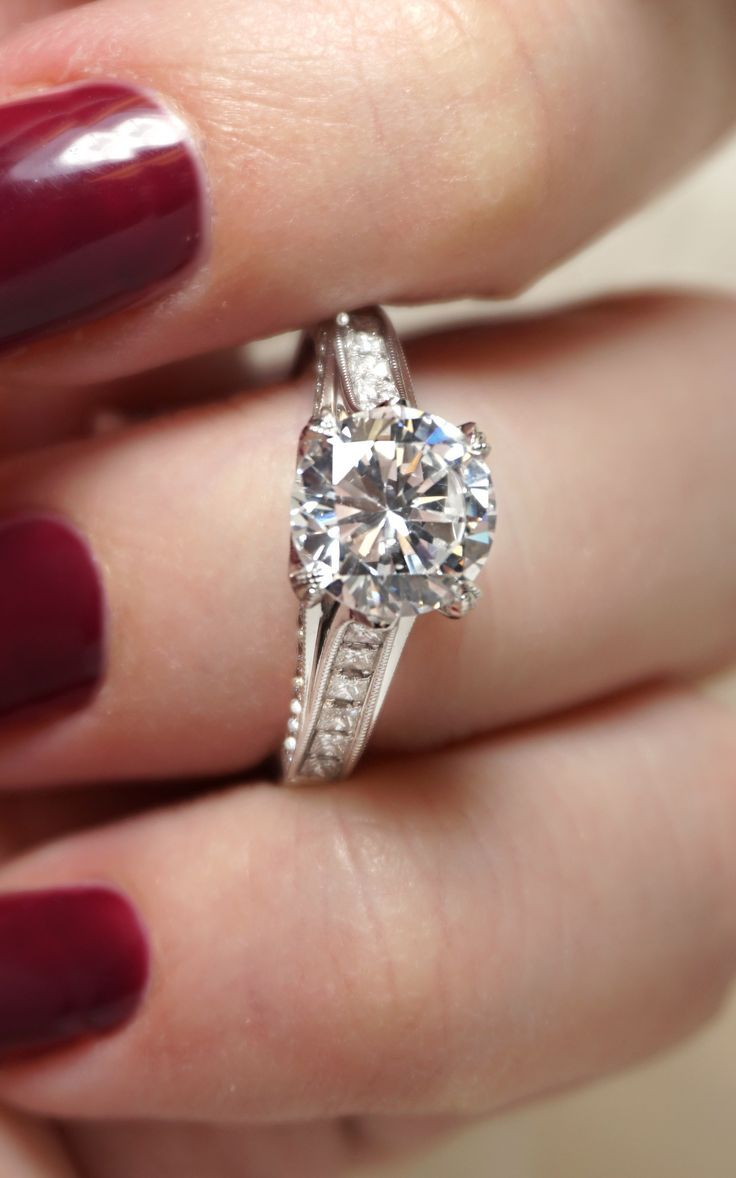Customize Or Design Your Own Engagement Ring! Pictured: Custom Diamond  Engagement Ring With Princess