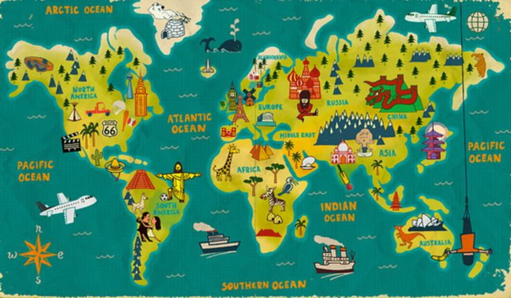 Pin By Emily Lamar On Childcare World Map Art Travel