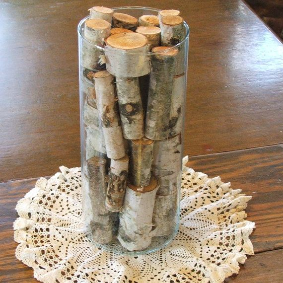 Natural birch vase filler by blueskiesforever on etsy 19 for Floor vase filler ideas
