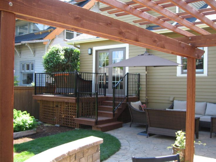 Small Deck Stairs To Lower Patio Patio Entry