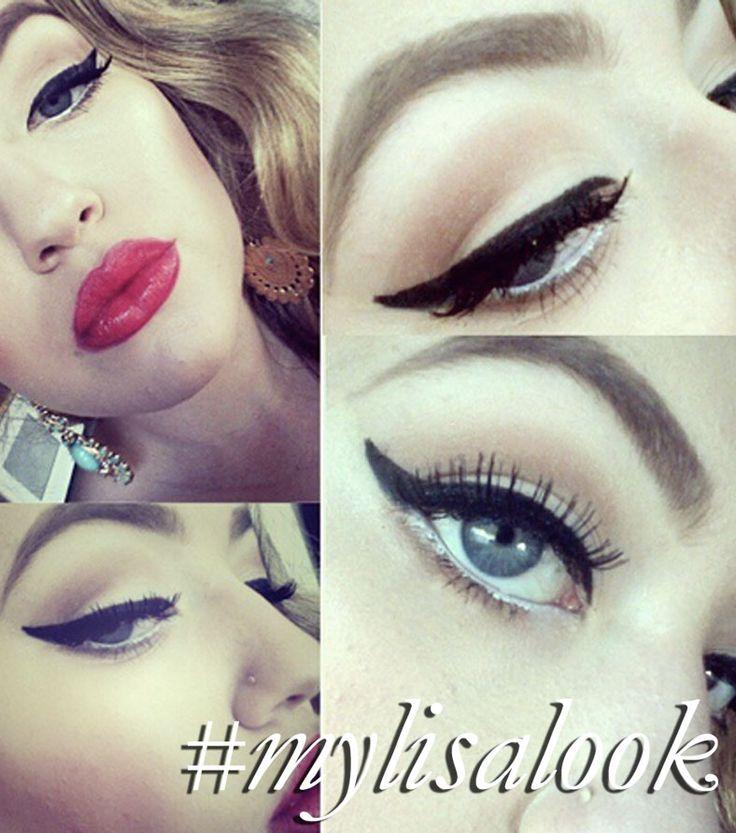 Natalie recreating my'Pin Up Makeup Look' http://www.lisaeldridge.com/video/25893/pin-up-makeup-tutorial/ #MyLisaLook #Makeup #Beauty