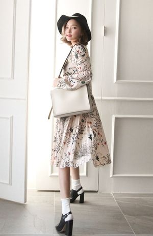 大人可愛い花柄ワンピース♡甘タイプのガーリッシュ系のコーデ♡スタイル・ファッションのアイデア☆