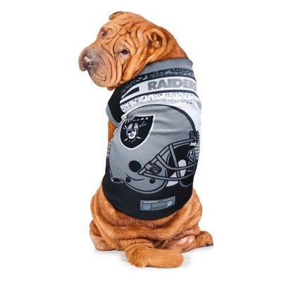 NFL Oakland Raiders Pet Performance T-Shirt - Large