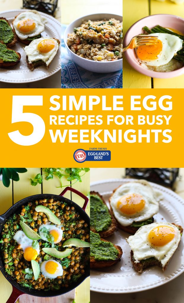 5 Simple Egg Recipes for Busy Weeknights