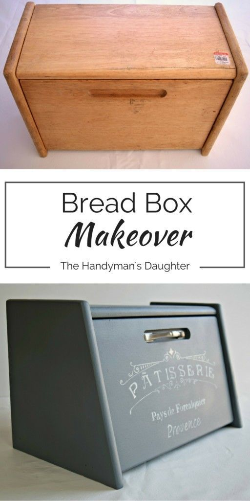 Bread Box Makeover - Bread boxes like these are a dime a dozen at the thrift store. Bring them home and make them the highlight of your kitchen counter!