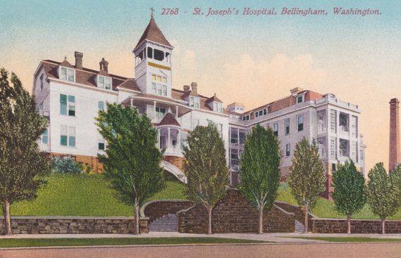 BELLINGHAM, WASHINGTON, St. Joseph's HOSPITAL, Vintage Postcard, Unused, c. 1910s, Edward h. Mitchell by AgnesOfBohemia, $3.99