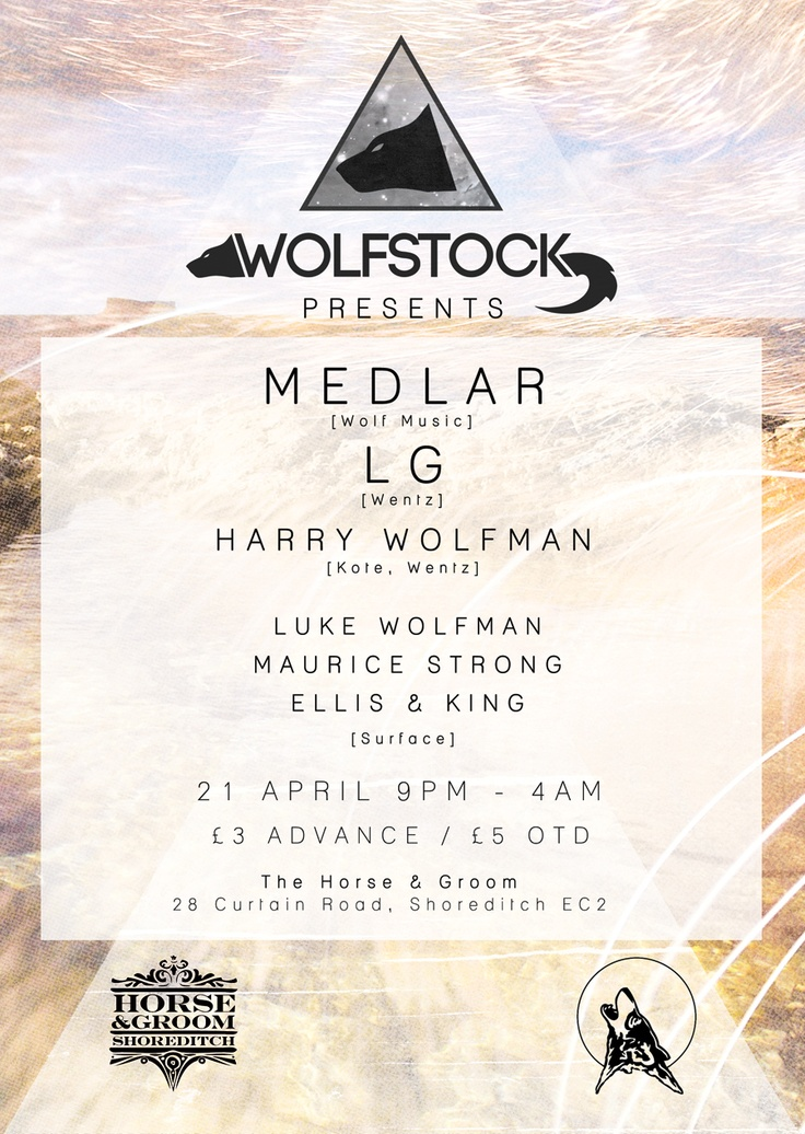 The newest flyer design for Wolfstock