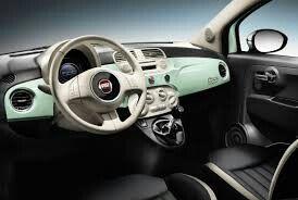 Fiat 500 Mint Green Interior