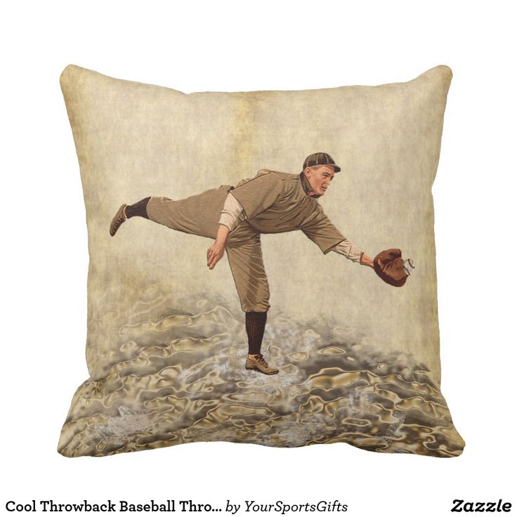 Cool Throwback Baseball Throw Pillows for Boys and men's baseball man cave. CLICK HERE: https://www.zazzle.com/z/yxl2p?rf=238012603407381242 The back has a cool old baseball pillow design. Great ideas for baseball man cave and baseball graduation and baseball birthday gifts. College dorm decor for baseball lovers gifts. MORE old baseball gifts HERE: http://www.Zazzle.com/LittleLindaPinda Retro Baseball Bedroom Decor, Throwback Baseball Gifts for guys.