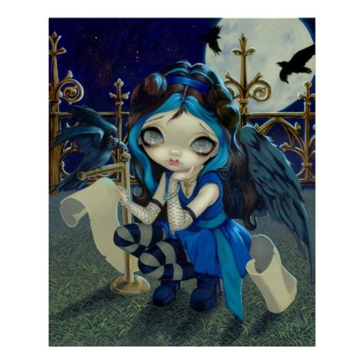 Quoth the Raven Nevermore - gothic fairy - Jasmine Becket-Griffith