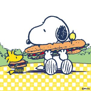 I'm Woodstock with a Snoopy appetite!