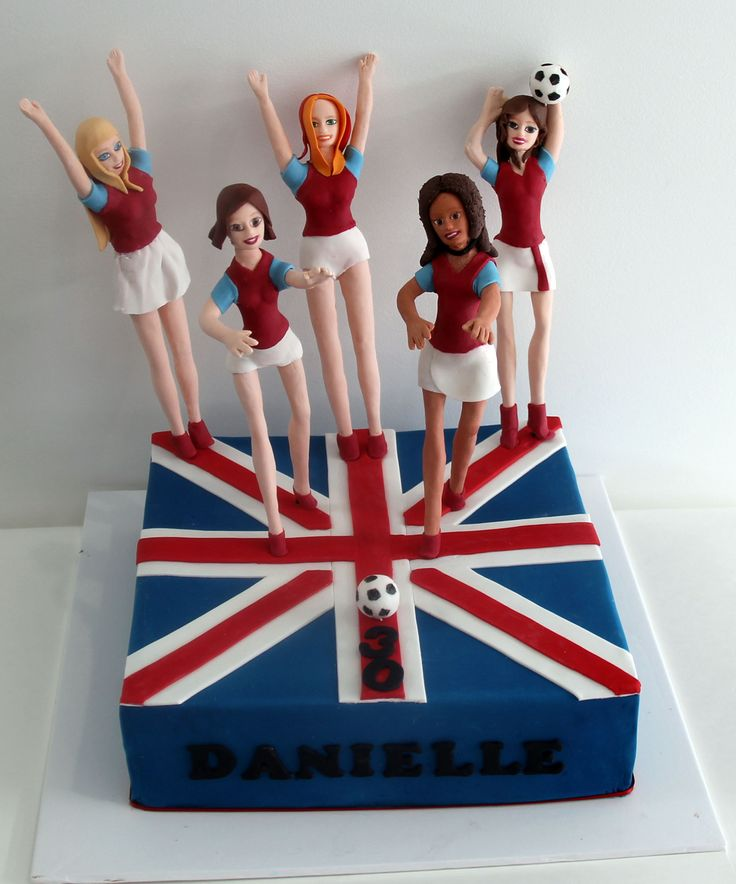 Spice Girls Soccer Cake Like us at www.facebook.com/melianndesigns