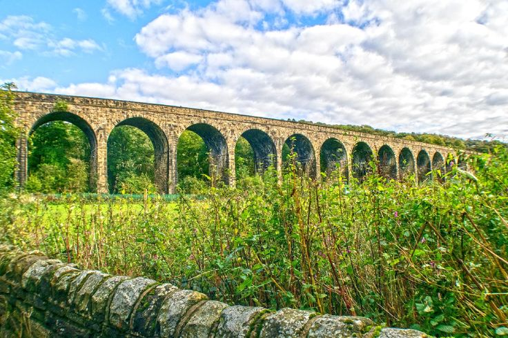 Copley Railway Viaduct crosers the Copley Valley, Calder & Hebble Navigation, and River Calder Near Halifax, West Yorkshire. More of my pictures and information can be seen at, www.colingreenphotography.blogspot.co.uk