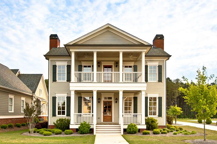 7aeae16b87b7fcc7fa7501844e6b1632 southern comfort southern living clubside estates monroe ga dream homes pinterest domy,House Plans With Double Front Porches