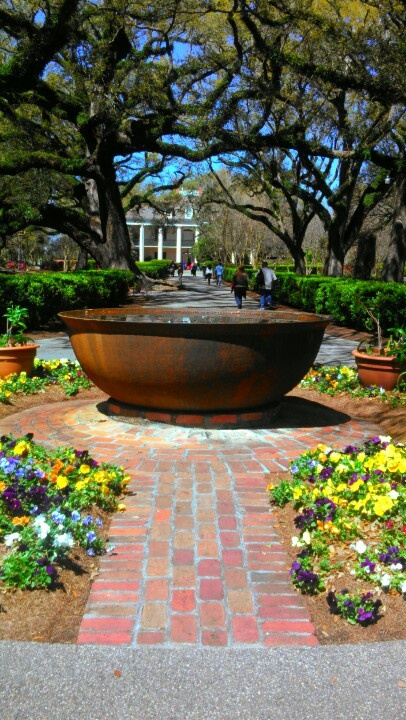 34 best i need a fountain on my patio images on pinterest for Colonial landscape design