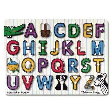 Melissa & Doug Fresh Start Alphabet Peg Puzzle