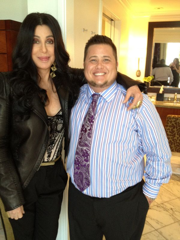 Cher and son Chaz....hey...er...um...wasn't her son...her 'daughter?'