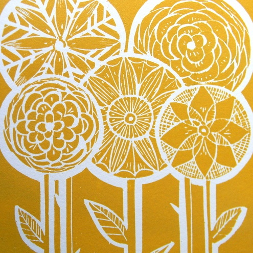 beautiful lino print