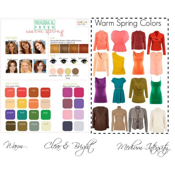 """Warm/True Spring Colors"" by katestevens on Polyvore"