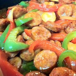 Sweet and Sour Smoked Sausage- I always add more sweet and sour