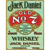 JACK DANIEL OLD NO. 7 WHISKEY   Advertising Wall Sign RETRO ART,Vintage style enamel metal advertising wall sign.   These are high quality reproduction retro metal signs.   Pre-drilled holes for easy wall mounting.   Ideal for collectors, enthusiasts or great house decorations    Prices from £6.99