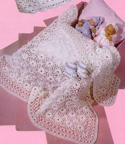 Free Graphics Crochet Patterns - Crochet Patrones Gráficos Gratuitos: Manta Bebé