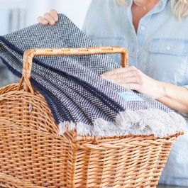 Navy Recycled Blanket