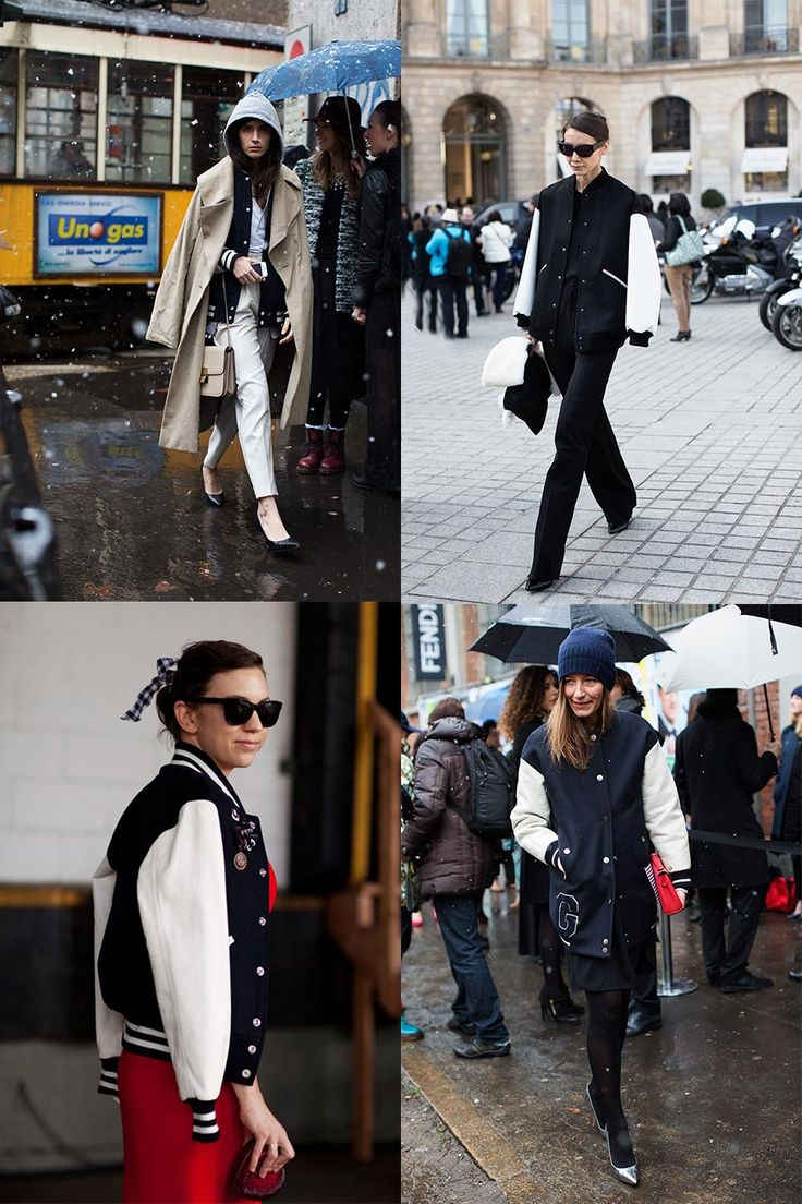 Baseball Jackets « The Sartorialist - the layered trench over the baseball jacket is especially cool.