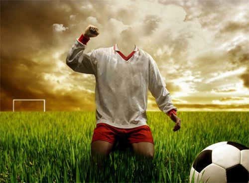 Fotomontaje de Chico jugando al Futbol