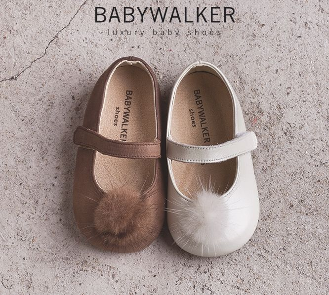 Pompon fur Balarinas handcrafted by BABYWALKER #babywalker #babywalkershoes #kidsshoes #girlshoes #vaptistika #christening #balarinas