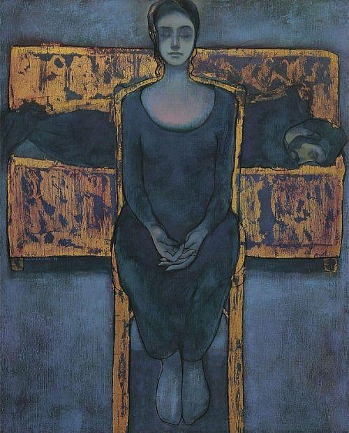 'Seated Lady', 1993 - Safwan Dahoul (b. 1961)