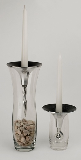 Drop In Candle Holders - Acrobat and Wave