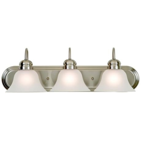 19 best bathroom light fixtures images on pinterest bathroom light park row brushed nickel 24 wide bathroom light fixture aloadofball Image collections