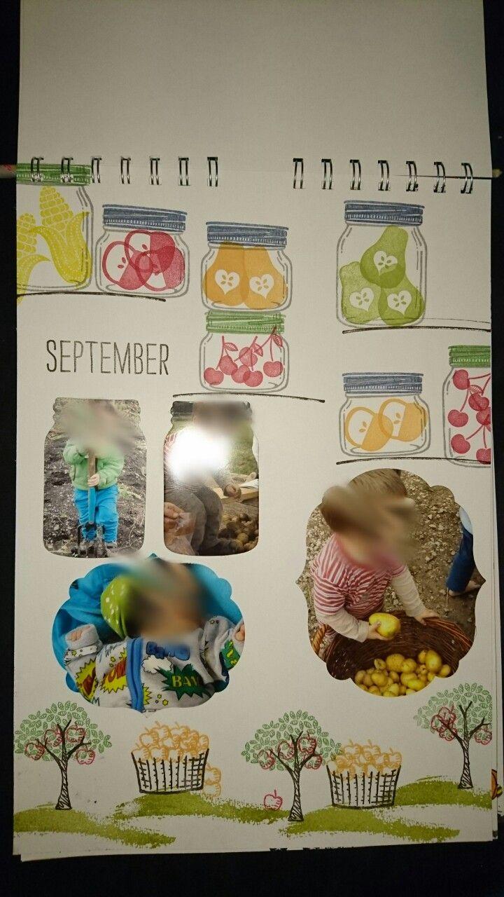 Kalender, September, Stampin Up