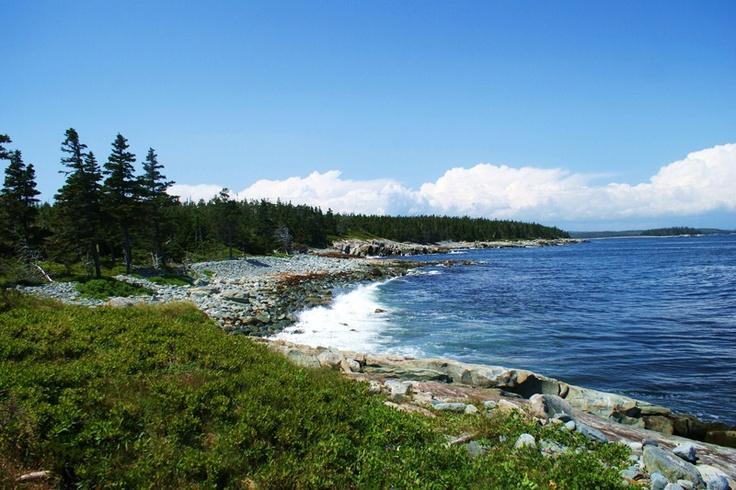 Trail along Taylor's Head, Nova Scotia.