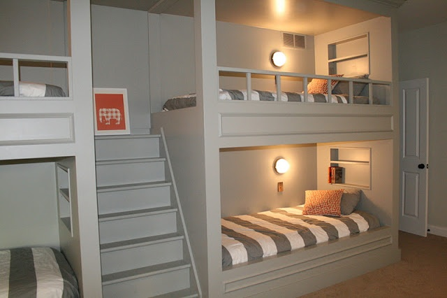 August Fields: boys bunk room