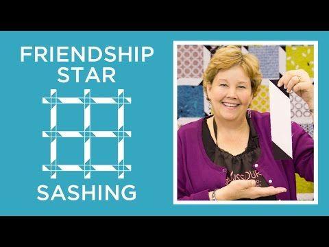 Friendship Star Sashing Quilt - YouTube