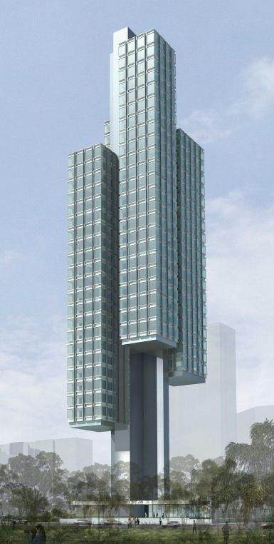 Floating Towers Singapore, Four individual apartment towers, 68 high rent apartments with panoramic views