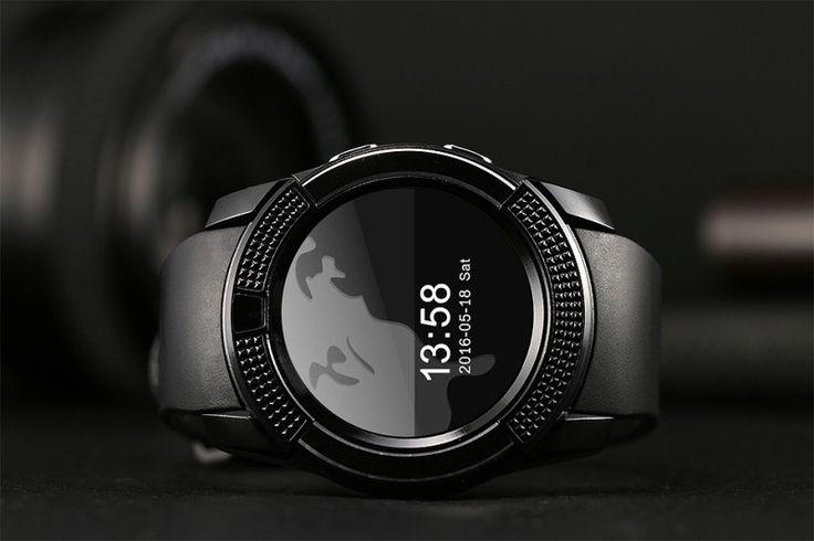 V8 MTK6261D 32M + 32M 0.3MP Camera Multifunctional Bluetooth Smart Watch Black - Tmart