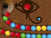 Free Online Puzzle Games, You are playing an ancient Egyptian bubble game that requires you to match the 3 of the same colored balls before they reach the end!  Aim your shots carefully because every time you miss, the bubble chain gets longer!  See how many levels you can pass because they will get harder as you progress!, #bubble shooter #matching