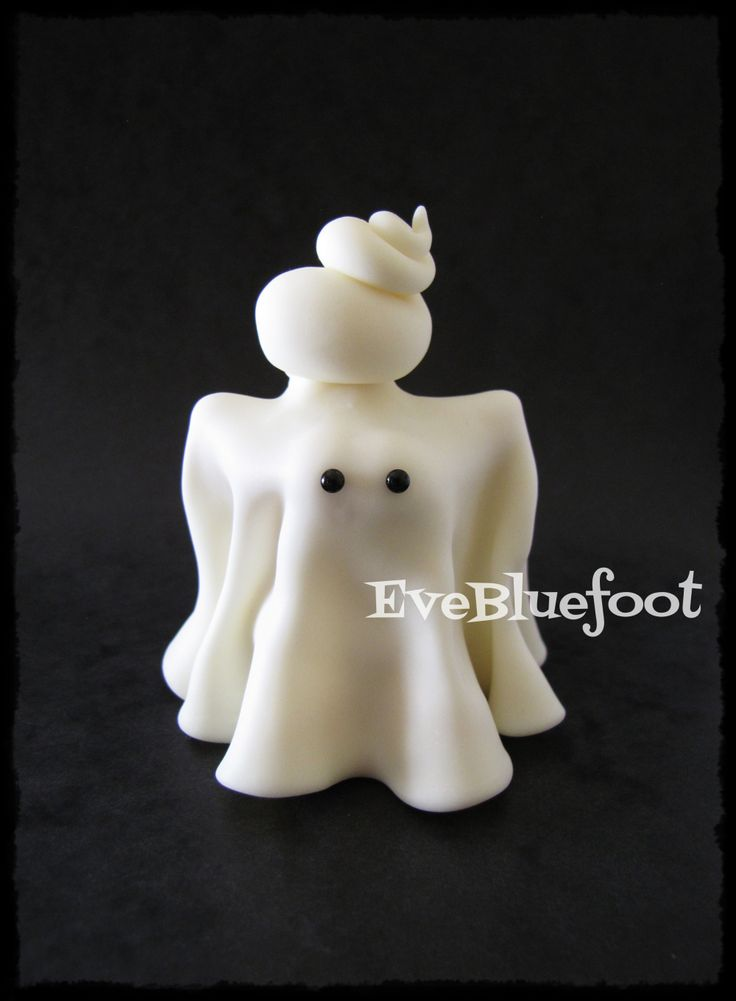Glow in the Dark Ghost, Polymer Clay Ghost, Whimsical Ghost, Miniature Ghost, Ghost Figurine, Handmade Ghost
