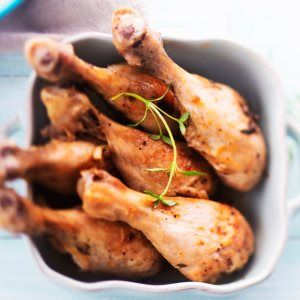 Broilerinkoivet uunissa - Chicken drumsticks