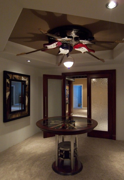 Guitar Light Fixture!!!!! Not Sure If It Is A Ceiling Fan · Music Themed ...