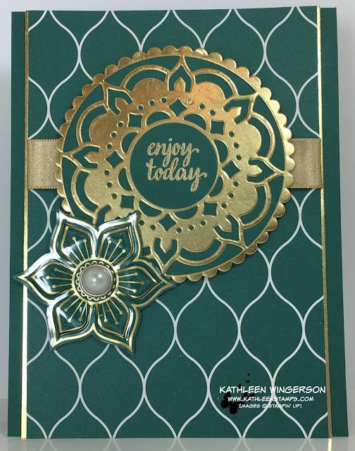 Enjoy Today card showcasing Stampin' Up! Eastern Palace Suite