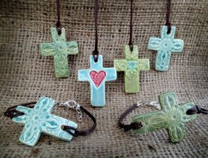 Rebekah Blocher Handmade Pottery Jewelry by Love4Orphans on Etsy, $24.00