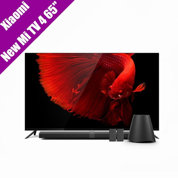 "Xiaomi Mi TV 4 65"" Inchs Smart TV English Interface Real 4K HDR Ultra Thin Television 3D Dolby Atmos WiFi/BLE Connect //Price: $2184.90//     #onlineshop"