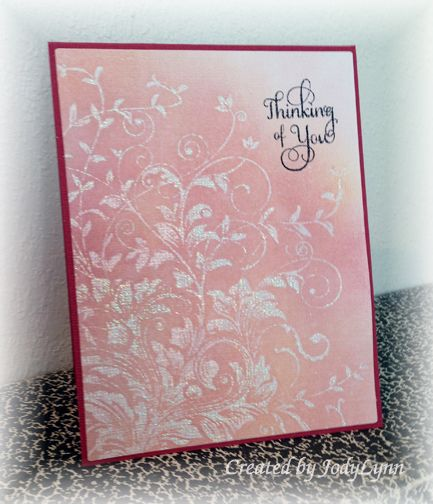Distress Thinking of You by jodylb - Cards and Paper Crafts at Splitcoaststampers