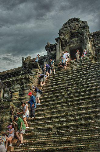 Angkor Wat Temple Stairs, Cambodia